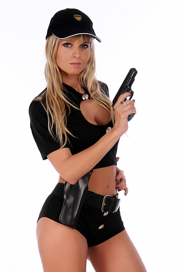 Stripperin als Police Officer